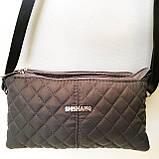 Стеганные женские клатчи-сумочки на 2 отдел. (каштан)17*24см, фото 2