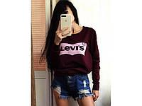 Женский свитшот Levis двухнить , разные цвета. Размеры: батал, норма, фото 1
