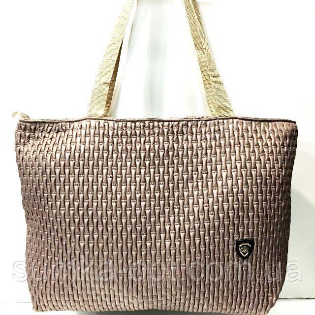 Стеганные женские сумки (бронза синий жатка)31*49см