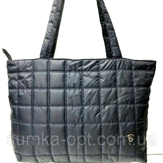Стеганные женские сумки (темный квадраты)31*49см