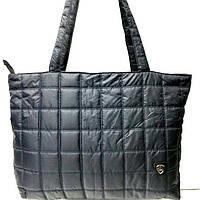 Стеганные женские сумки (темный квадраты)31*49см, фото 1