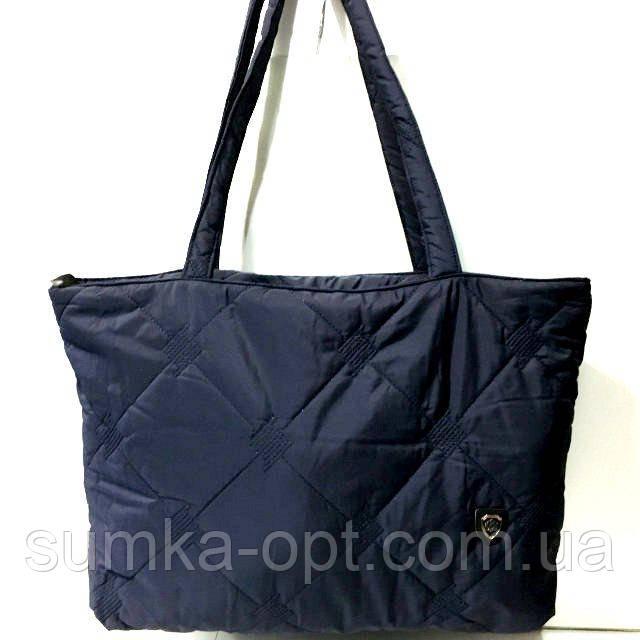 Стеганные женские сумки (синий)31*49см