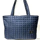 Стеганные женские сумки (синий)31*49см, фото 6