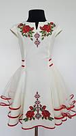 Вишита сукня для дівчинки  Olana Зоряна фатин молочне