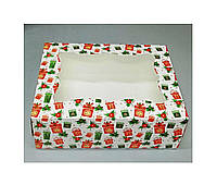 Коробка для кондитерских изделий 330х255х110 (с принтом подарок)