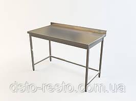 Стол для кафе из нержавеющей стали без нижней полки 1300/500/850 мм