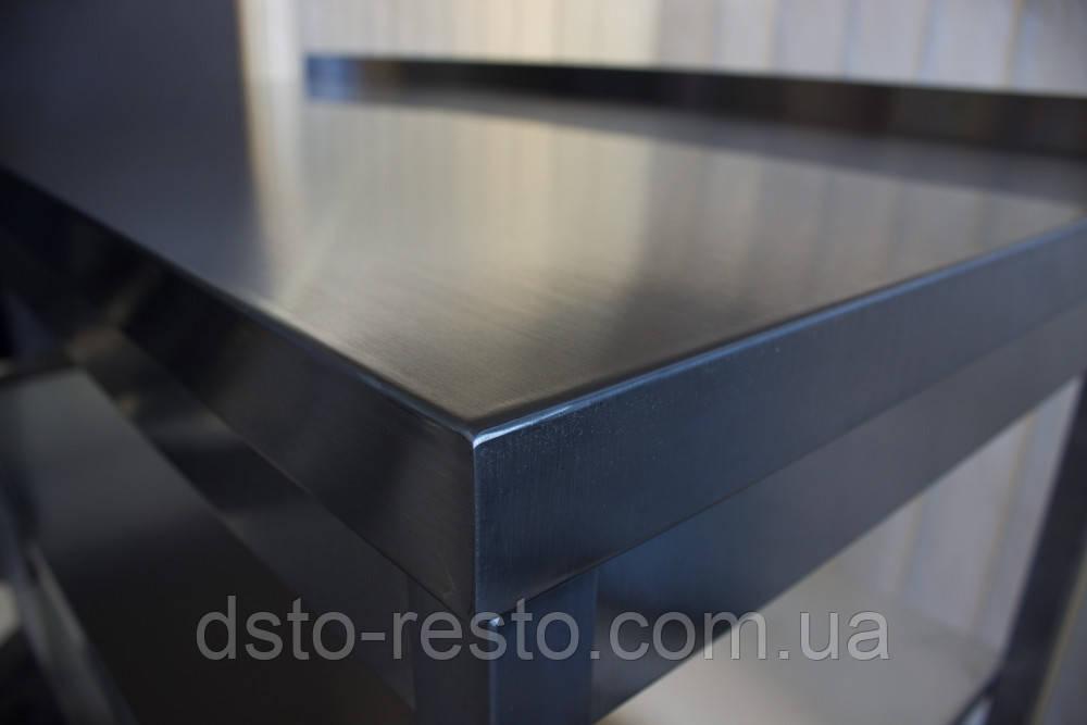 Стол из нержавейки без нижней полки 1200/600/850 мм