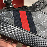Кроссовки мужские Gucci 19083 черные высокие, фото 5