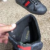 Кроссовки мужские Gucci 19083 черные высокие, фото 10