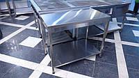 Стол производственный с полкой из оцинковки 1200/600/850 мм, фото 1