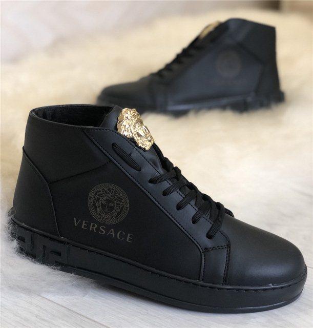 2919507afe5d0 Кроссовки мужские Versace D4801 черные зимние - купить по лучшей ...
