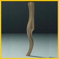 Резные ножки кабриоль гладкие удлиненные для столов, кресел, комодов и тумб из дерева.  480 мм