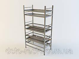 Стеллажи из нержавейки для посуды 900/320/1650 мм