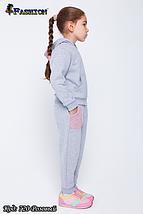Детский спортивный костюм с вышивкой девочке Юная модница, фото 2