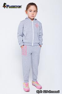 Детский спортивный костюм с вышивкой девочке Юная модница