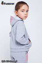 Детский спортивный костюм с вышивкой девочке Юная модница, фото 3