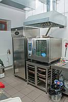 Зонт вытяжной из нержавеющей стали пристенный 1300/700/400 мм, фото 1