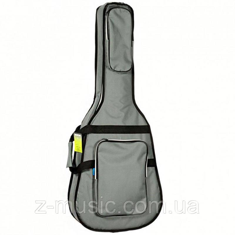 Чехол для акустической гитары HW-WG-41 FS GR, утеплитель 10мм
