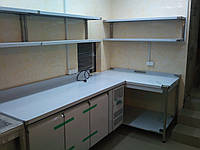 Полки для кухни  ресторана 2-х уровневая 1200/300/300 мм