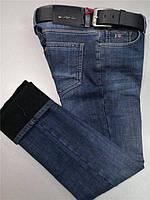 Мужские джинсы Tommy Hilfiger D4707 темно-синие утеплённые 5c90acd71b101