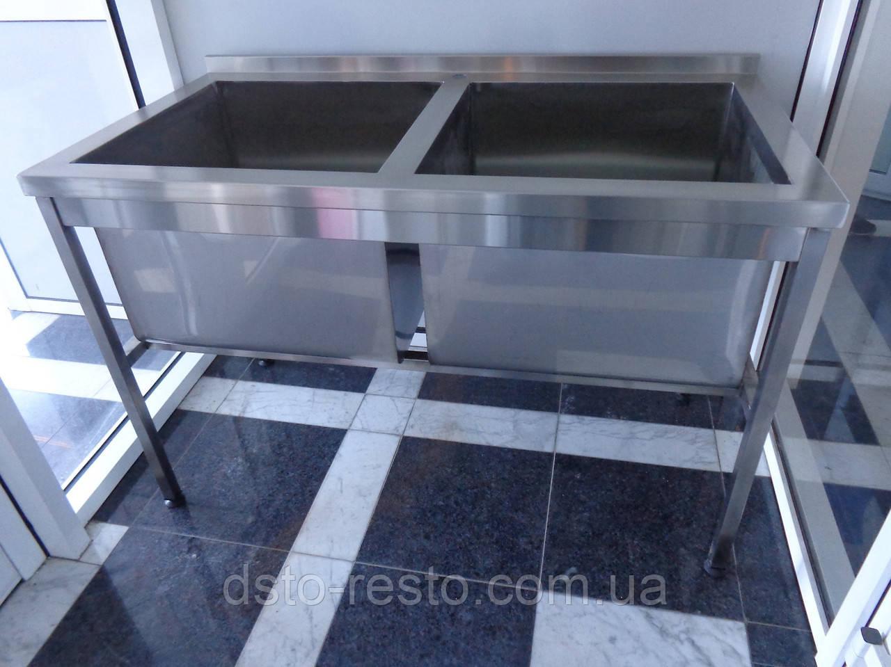 Ванна моечная для столовой общепита 1200/600/850 мм, глубина 400 мм