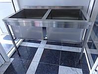 Ванна моечная для столовой общепита 1200/600/850 мм, глубина 400 мм, фото 1