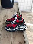 Женские кроссовки Balenciaga Triple S Red. Живое фото (Реплика ААА+), фото 2