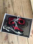 Женские кроссовки Balenciaga Triple S Red. Живое фото (Реплика ААА+), фото 4