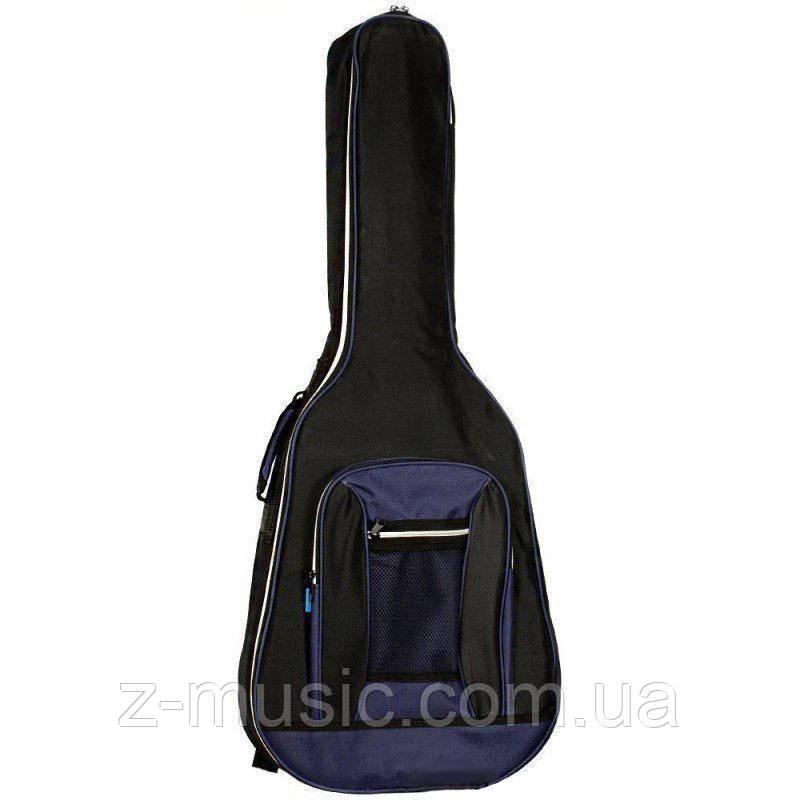 Чехол для акустической гитары Чехол HW-WG-41Z BK-BL, утеплитель 10мм