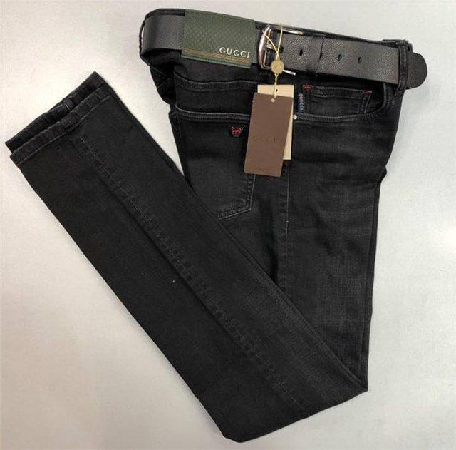 cec1f6b06383 Джинсы мужские Gucci D4855 черные - купить по лучшей цене, от ...