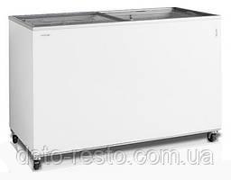 Ларь морозильный с прямым стеклом (для мороженого) TEFCOLD IC400SC