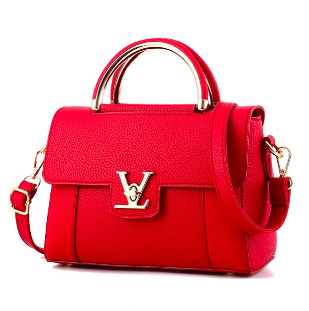 Сумка женская с ручками в стиле Lui Vito через плечо Красный