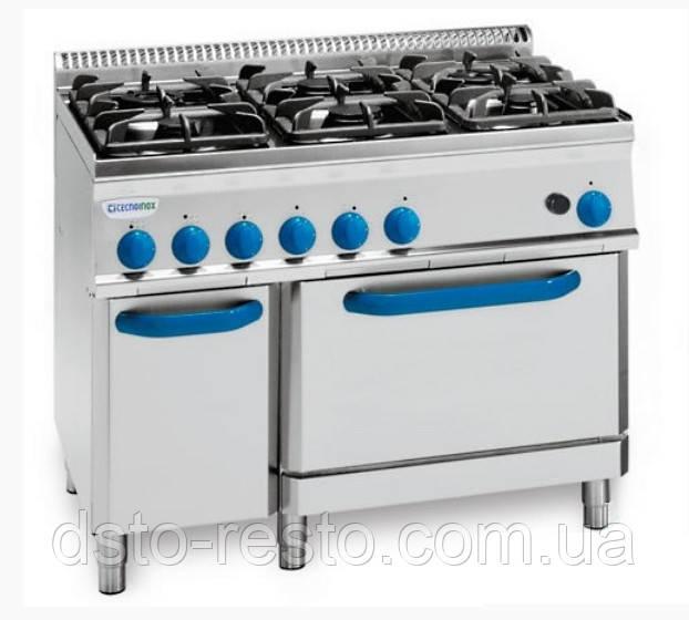 Плита промышленная газовая 4-х конфорочная с духовкой TECNOINOX PF105GG7