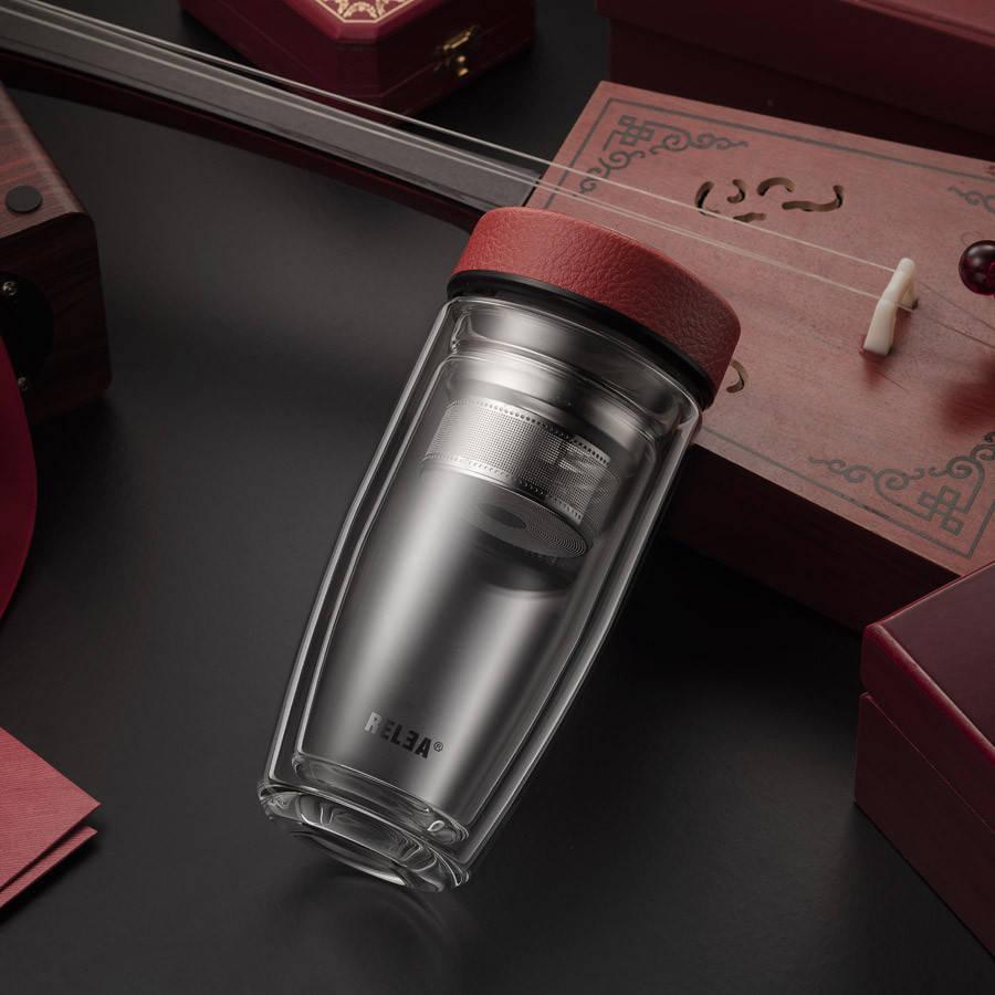 Термостакан Relea Gentleman 380 мл Красный (JV011807-0380)
