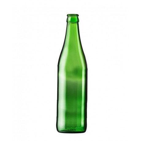 Пивная бутылка 0,5 литра (зеленое стекло) под кроненпробку