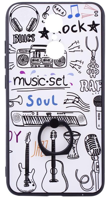 Чохол-накладка для Xiaomi Redmi 5 TPU Білий/ Музика