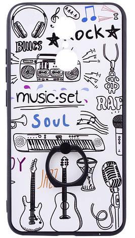 Чохол-накладка для Xiaomi Redmi 5 TPU Білий/ Музика, фото 2