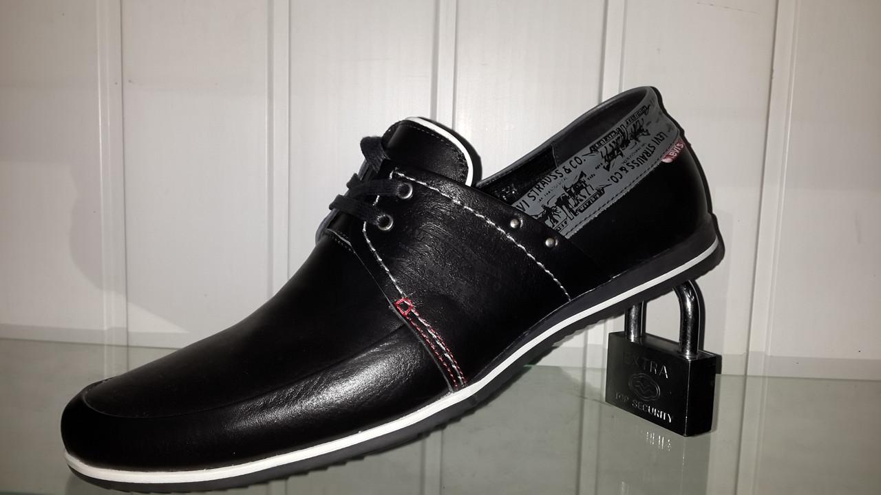 ff0613cc9f5d Мужские кожаные мокасины Levis на шнурках, цена 1 020 грн., купить в  Харькове — Prom.ua (ID#808458073)