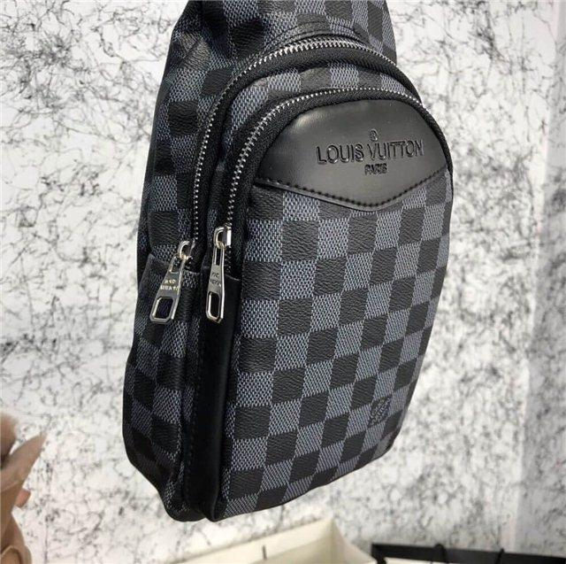 644bbe2ceca1 Сумка Louis Vuitton D4764 серо-черная - купить по лучшей цене, от ...