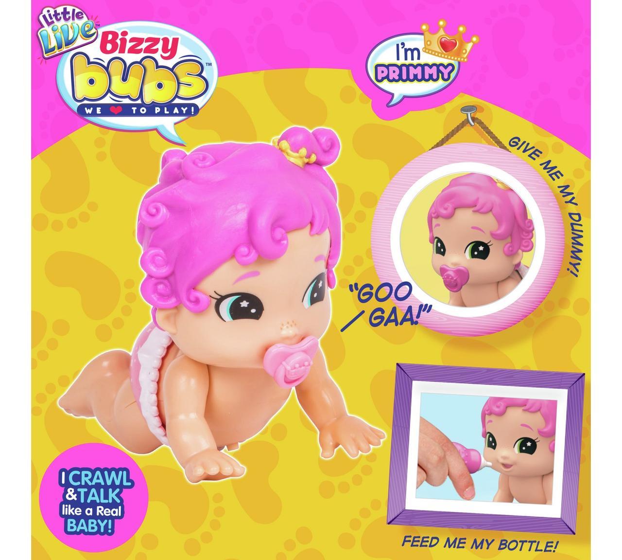 Интерактивные игрушки Bizzy Bubs Primmy Пупсики малышки Little Live Pets Биззи Бабс Примми кукла