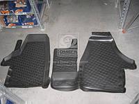 Коврики водительские с двойным пассажирским сидением для Volkswagen Transporter 2009- (передние) (pp-159)