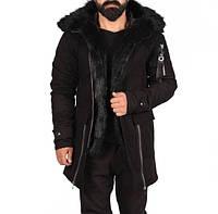 Куртка мужская Emporio Armani D4800 черная зимняя