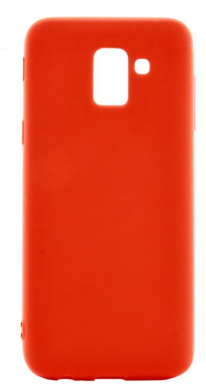 Чехол накладка Candy для Samsung J600F Galaxy J6 (2018) Силиконовый Красный