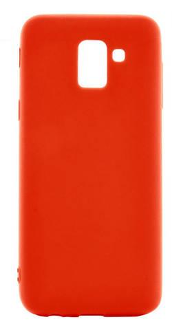 Чехол накладка Candy для Samsung J600F Galaxy J6 (2018) Силиконовый Красный, фото 2