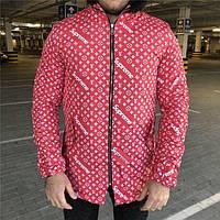 Куртка мужская Louis Vuitton x Supreme 19055 красная