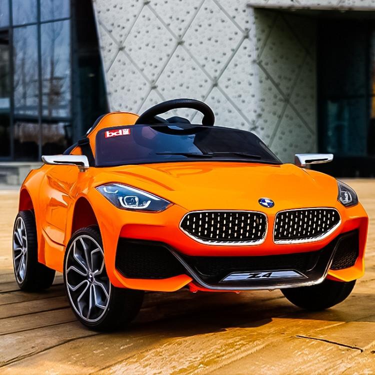 Детский электромобиль BMW Z4, два мотора, MP3, оранжевый, дитячий електромобіль