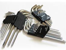 Ключи  шестигранные Torx T10-T50, короткие, СrV, 9шт