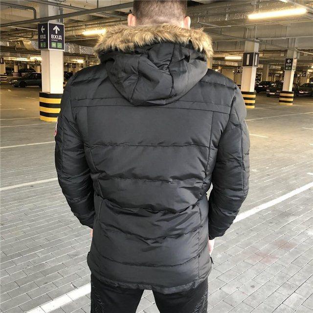 df6db30dcfd Куртка мужская Canada Goose 19056 черная - купить по лучшей цене