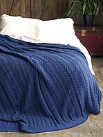 Плед-покрывало вязаный Betires Bremen  NAVY BLUE, фото 1