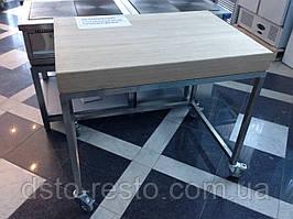 Стол кондитерский c деревянной столешницей